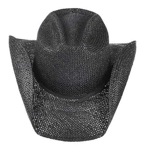 Chapéu Country Cavaleiro I Algas Preto Aba 9 cm