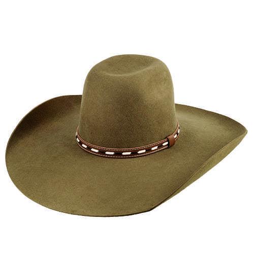 Chapéu Country Top Bull de Lã 30x Castor Aba Baixa 13 cm