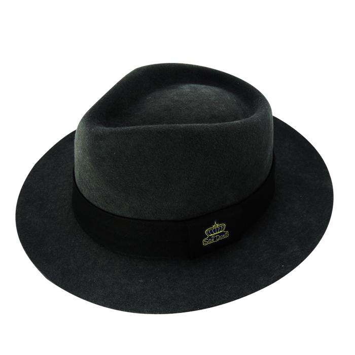 Chapéu Diamante Soft em Feltro de Lã Importada Cinza Escuro San Doná REF: 008.05.04.046