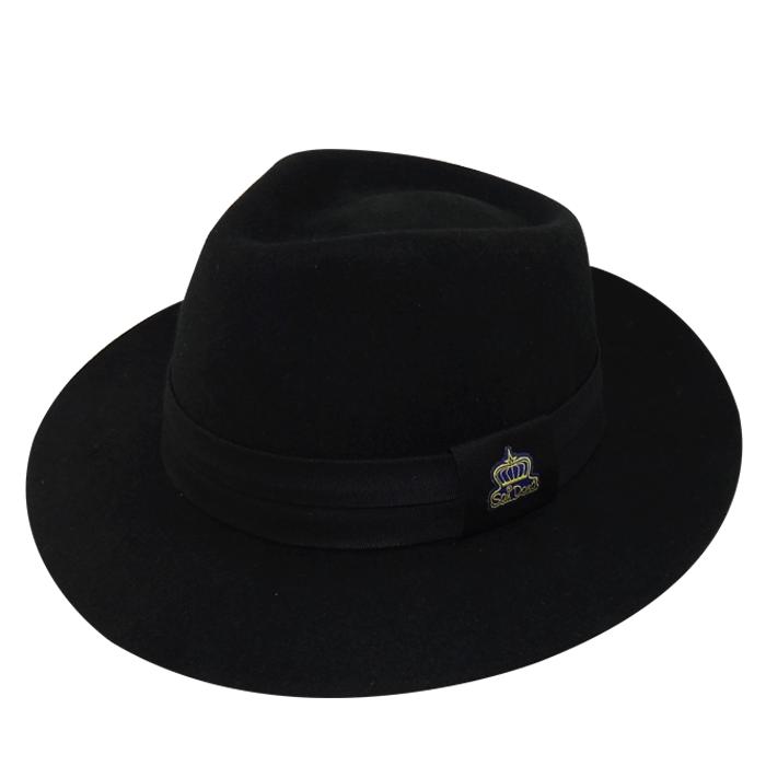 Chapéu Diamante Soft em Feltro de Lã Importada Preto San Doná REF: 008.05.04.022