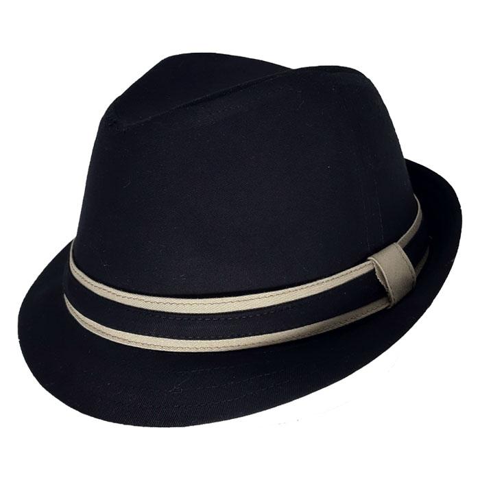 Chapéu Fedora Bicolor Social Preto Verão