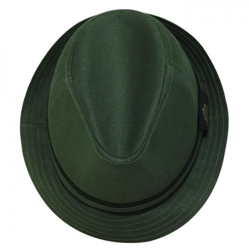Chapéu Fedora Bicolor Social Tecido Verde San Doná