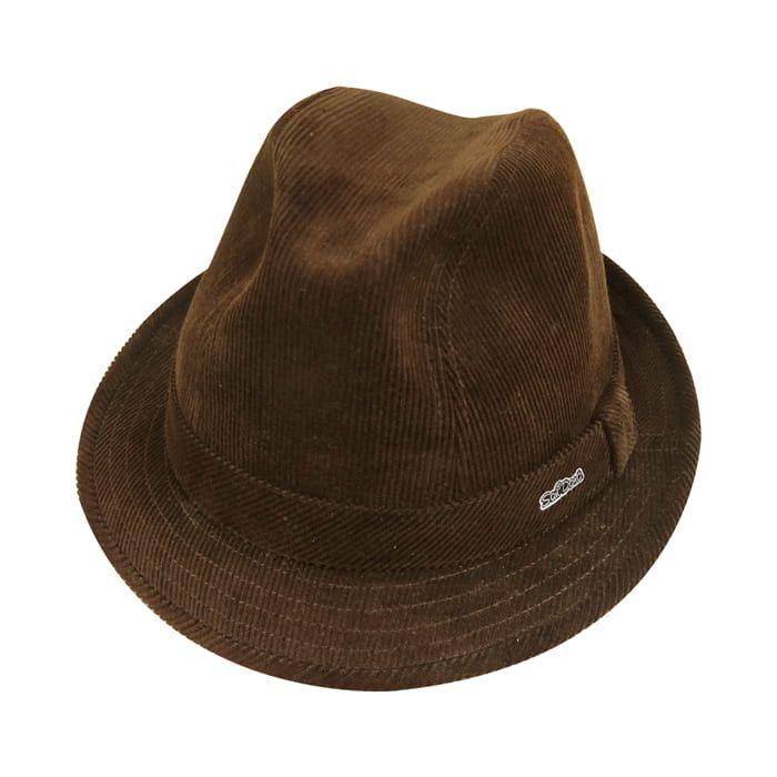 Chapéu Fedora Fashion em Veludo Marrom San Doná