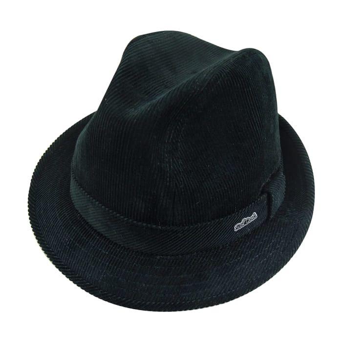 Chapéu Fedora Fashion em Veludo Preto San Doná