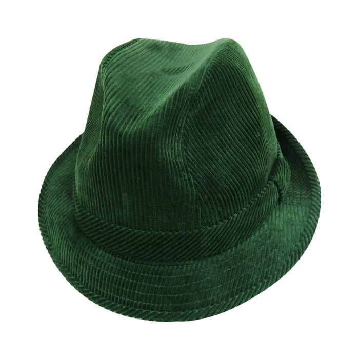 eb9f5f96ef Chapéu Fedora Fashion em Veludo Verde San Doná