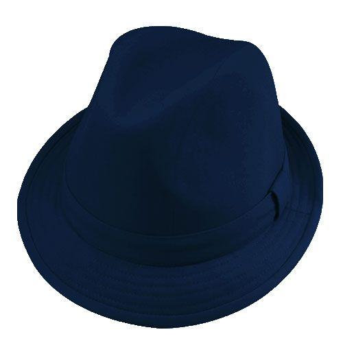Chapéu Fedora Justin Azul Marinho Verão