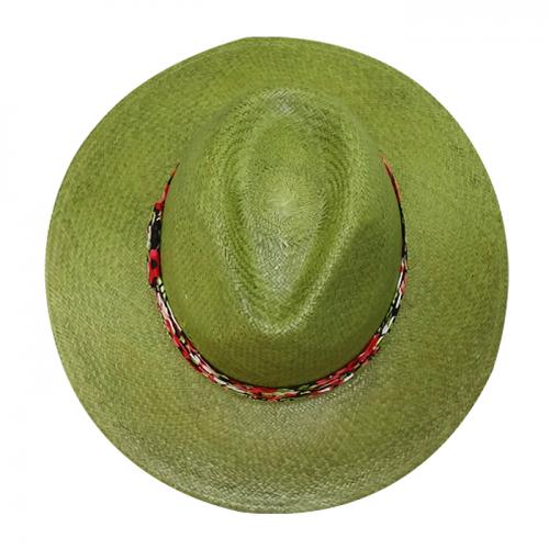 Chapéu Feminino Amapola Verde Panamá San Doná Ref: 016.07.01.025