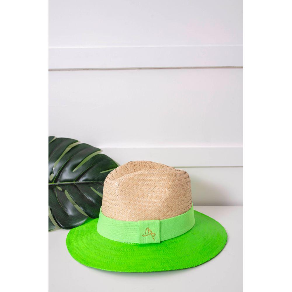 Chapéu Feminino Malu Pires Aba Verde Neon