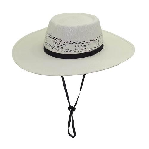 Chapéu Gaúcho Campeiro Bangora Branco Rendado Aba Grande