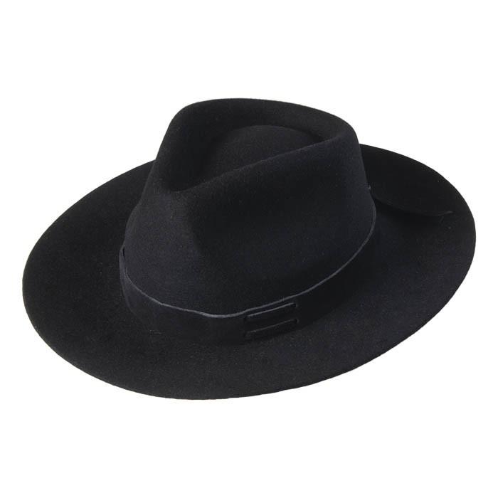 Chapéu Gaúcho Tropeiro Lã Preto Aba 7 cm