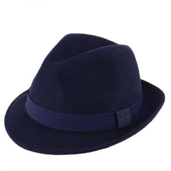 Chapéu Milano Soft Feltro de Lã Azul Marinho