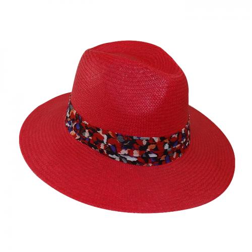 Chapéu Panamá Feminino Amapola  Vermelho San Doná Ref: 016.07.01.026
