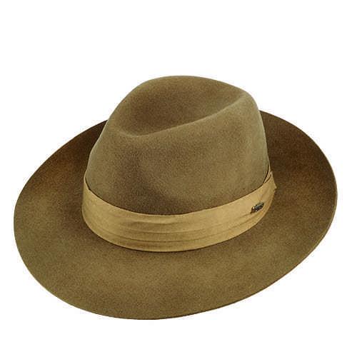 Chapéu Rock Santeiro Lã Castor Aba 7 cm