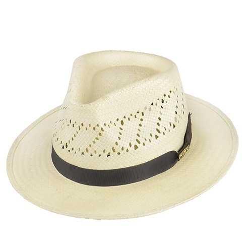 Chapéu Rock Santeiro Shantung Renda Branco Aba 7 cm