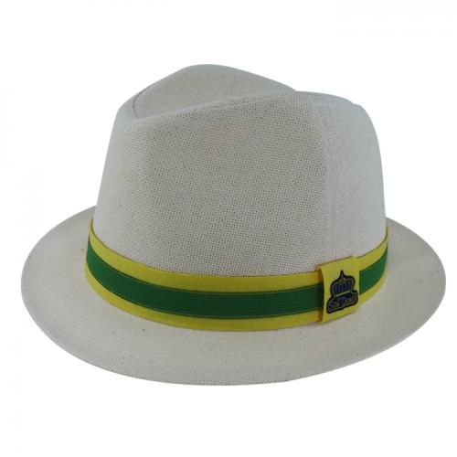 Chapéu Salvador Bossa Nova Masculino Cânhamo Fita Verde e Amarelo