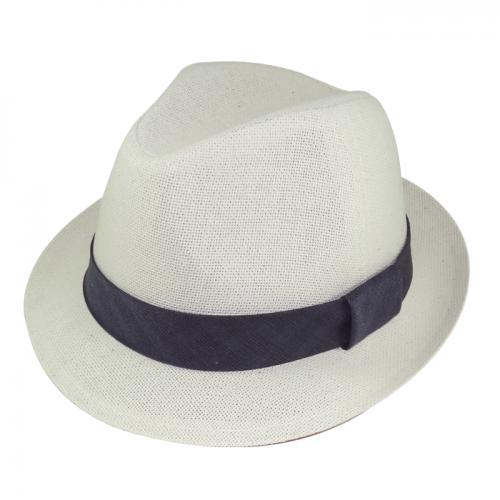 Chapéu Salvador Canhamo Natural Fita Estampada Cinza Escuro