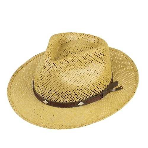 Chapéu Social Algas Marrom Aba 5cm
