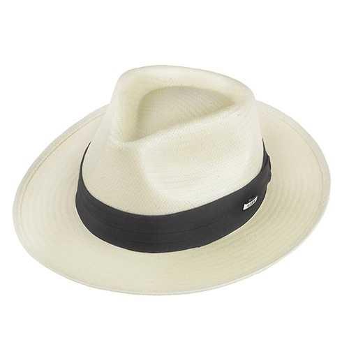 Chapéu Social Super Fino Branco Aba 5cm