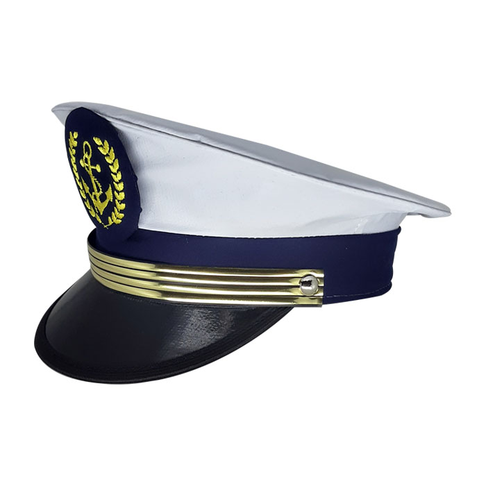 Quepe Militar Marinha Brasileira Branco com Azul