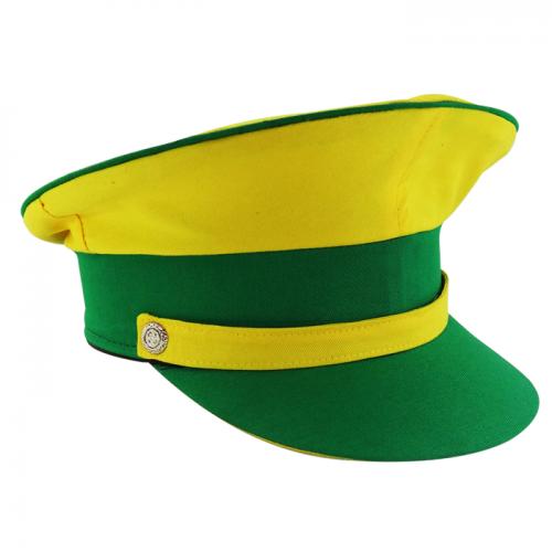 Quepe modelo Militar Brasileiro Verde e Amarelo