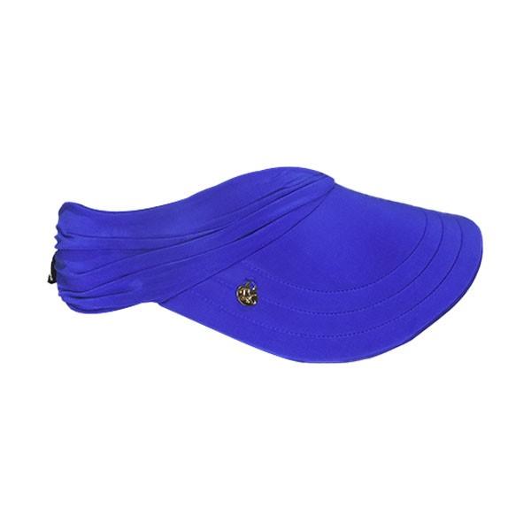 Viseira Azul Royal Feminina Praia Com Proteção Solar UV 50+