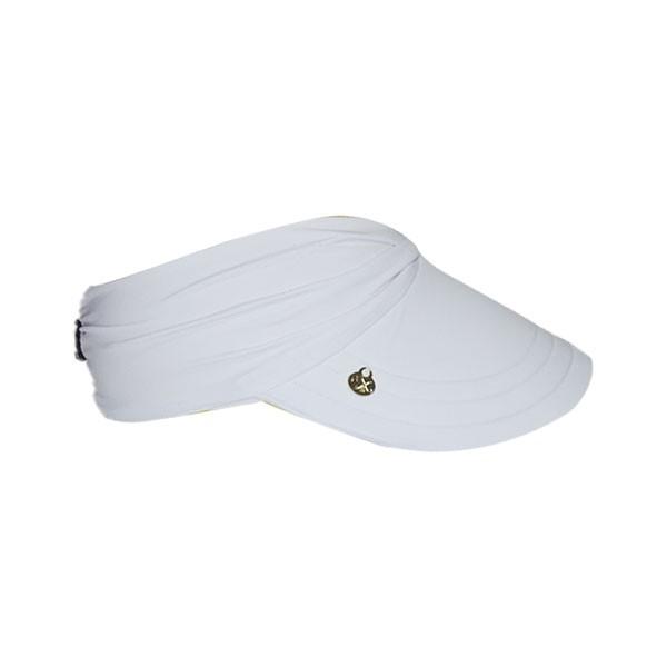 Viseira Branco Feminina Praia Com Proteção Solar UV 50+