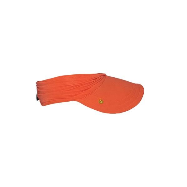 Viseira Infantil Laranja Neon Feminina Praia Com Proteção Solar UV 50+