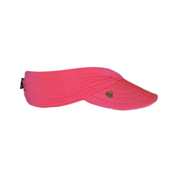 Viseira Infantil Pink Neon Feminina Praia Com Proteção Solar UV 50+