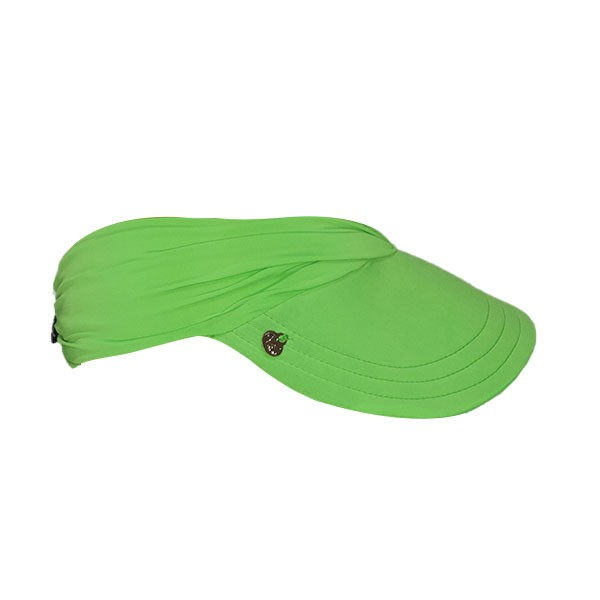 Viseira Turbante  Verde Neon Feminina Praia Com Proteção Solar UV 50+