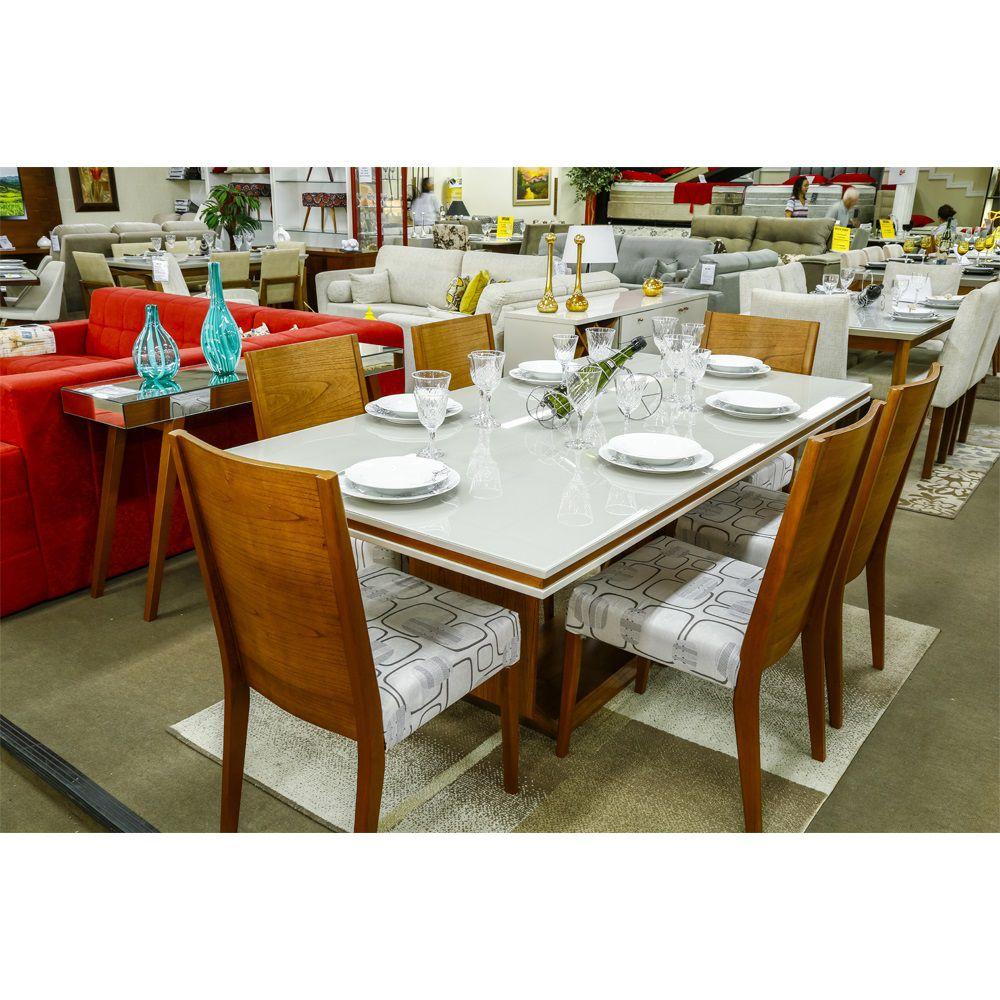 Conjunto Sala de Jantar Mesa São Francisco e 6 Cadeiras Premium