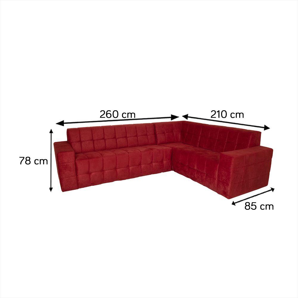 Sofa Roma de Canto 2 e 3 Lugares