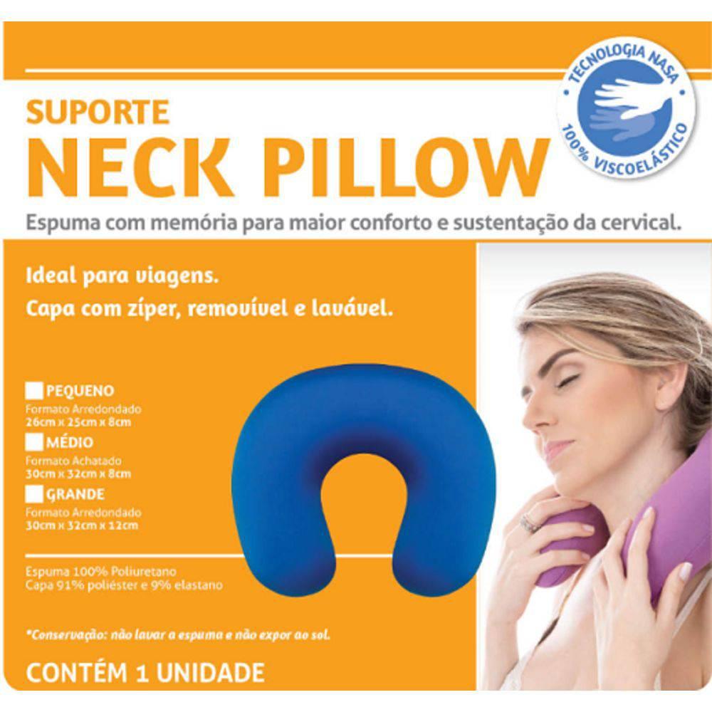 Almofada Suporte Travel Neck Pillow Pequeno Perfetto