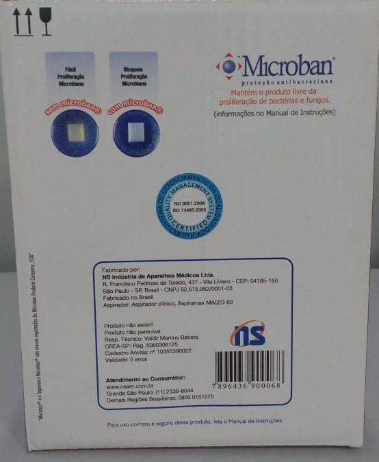 Aspirador AspiraMax NS de Secreção e Líquido MA520-60 - Aspirador Cirúrgico Clínico