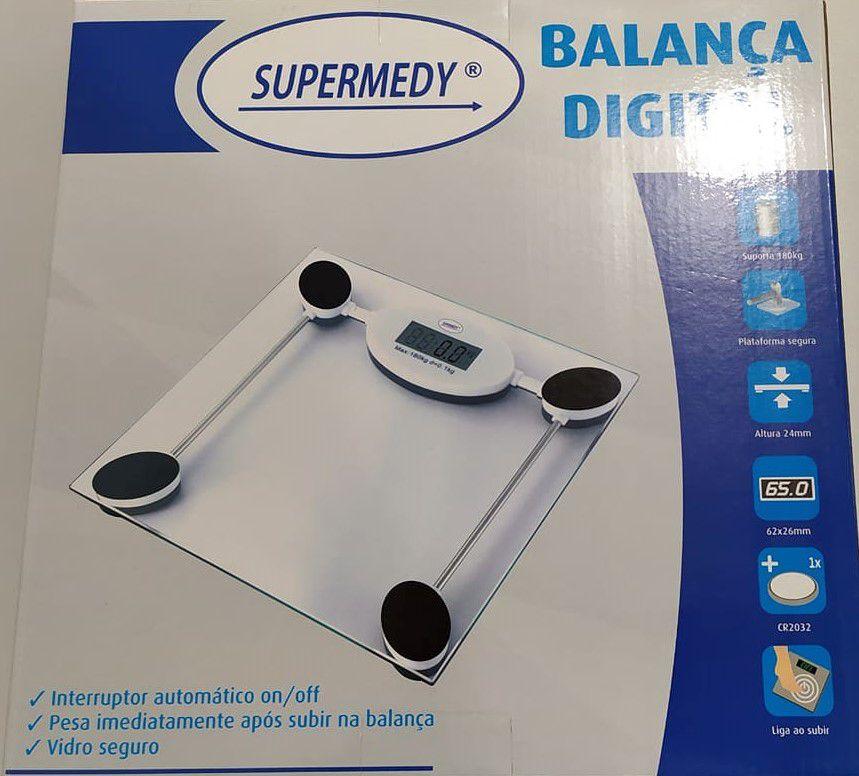 Balança Digital 180 Kg Supermedy Branca