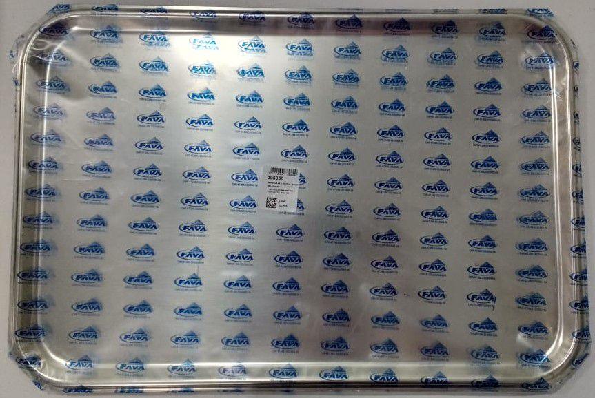Bandeja Inox Fava Milleniun 49 x 33 cm
