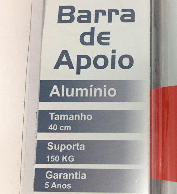 Barra de Apoio Reta em Alumínio Levevida 40 cm branca