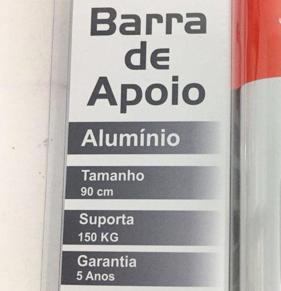 Barra de Apoio Reta em Alumínio Levevida 90 cm branca