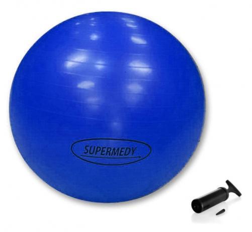 Bola para Ginástica 65 cm Supermedy Azul - Fisioterapia, Pilates e Fitness