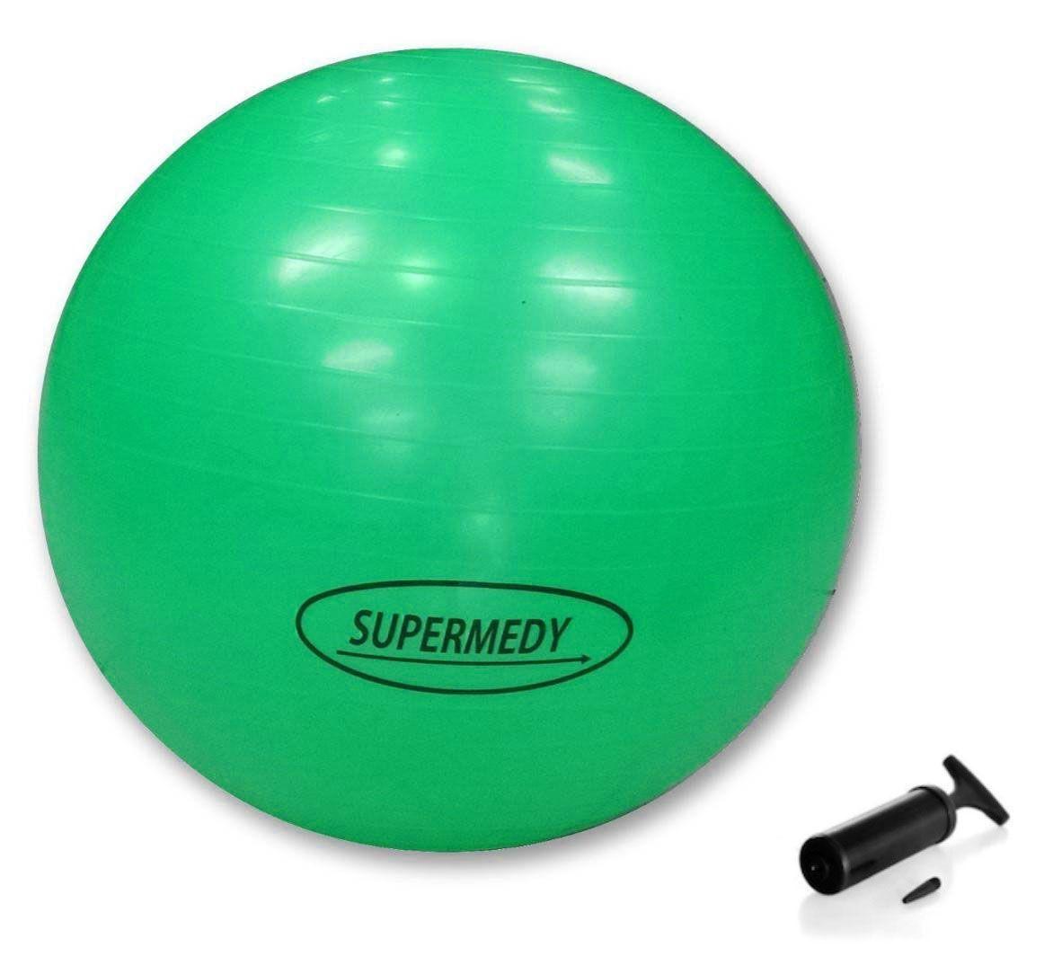 Bola para Ginástica 75cm Supermedy Verde - Fisioterapia, Pilates e Fitness
