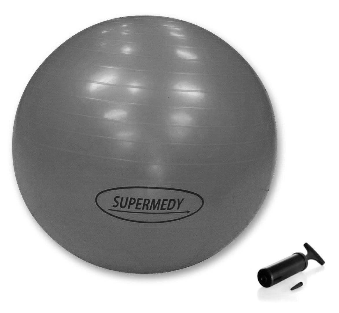 Bola para Ginástica 85cm Supermedy Prata - Fisioterapia, Pilates e Fitness