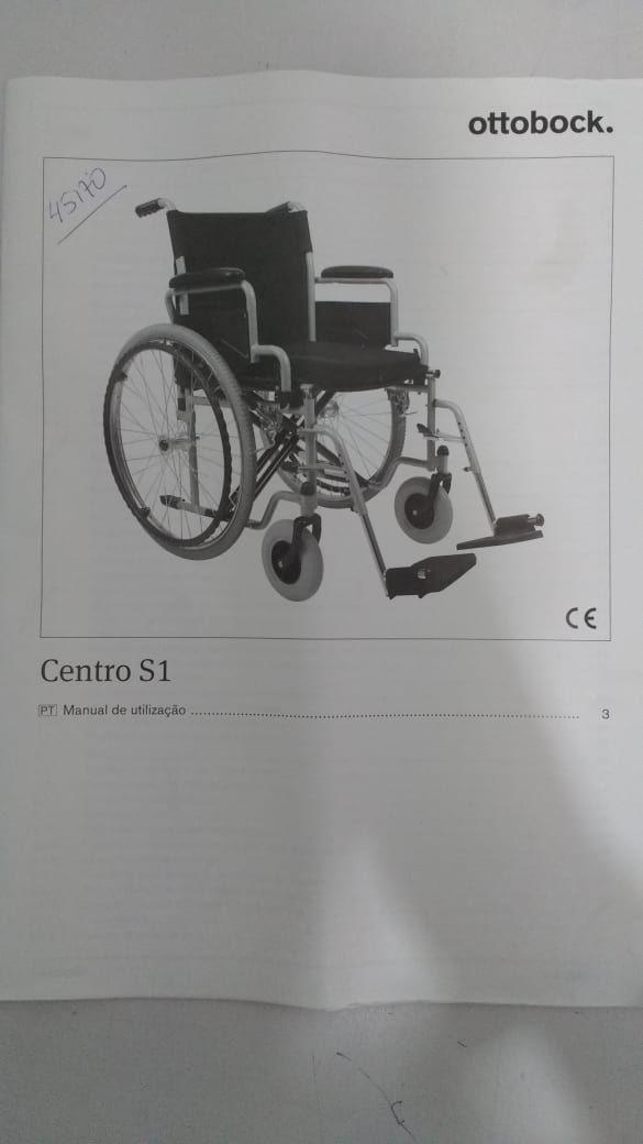 Cadeira de Rodas Centro S1 100kg 45,5cm Ottobock