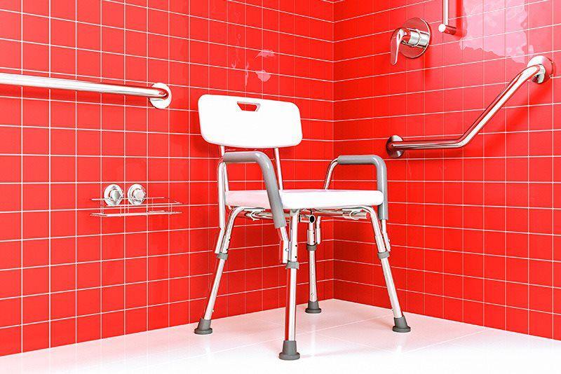 Cadeira De Banho Regulável Com Encosto e Braço Cb/2 Astra