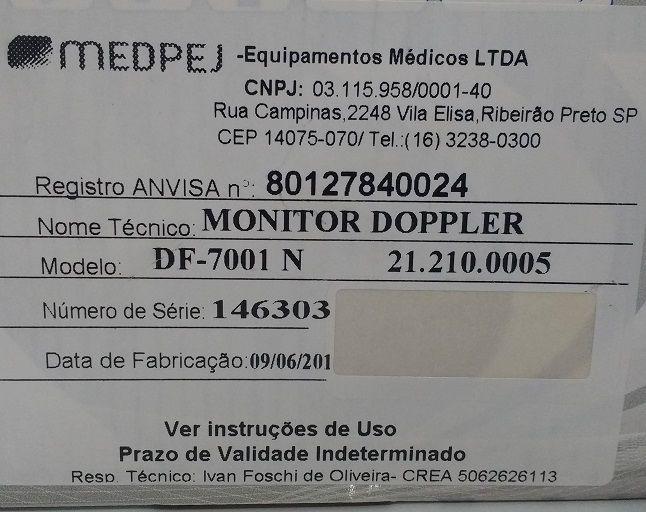 Detector Fetal Medpej Df-7001-N