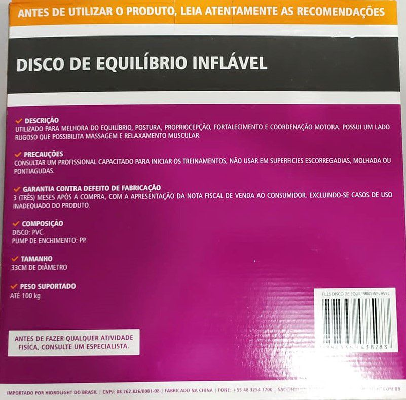 Disco de Equilíbrio Inflável FL28 Hidrolight