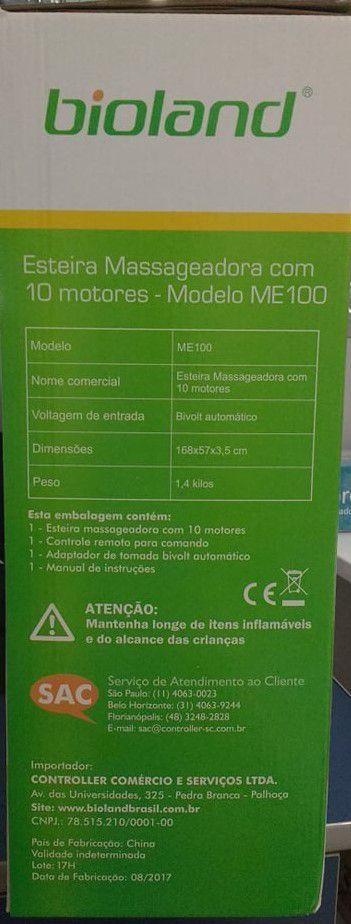 Esteira Massageadora com 10 Motores ME100 Bioland