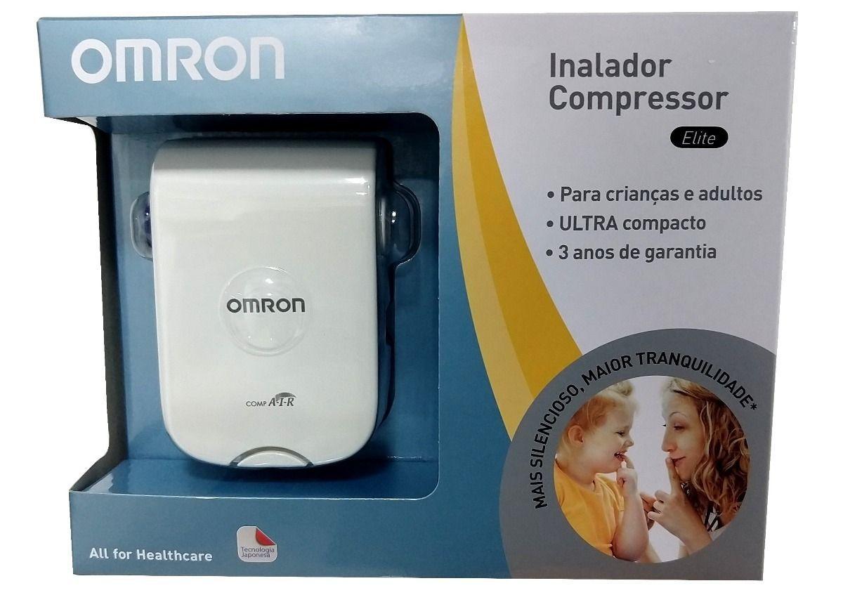Inalador Omron NE-C803 - Inalador e Nebulizador Compressor Elite