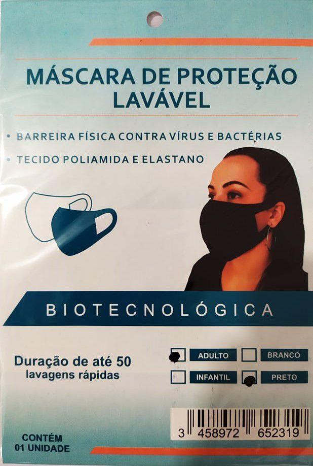 Kit 3 Máscaras de proteção lavável Inova