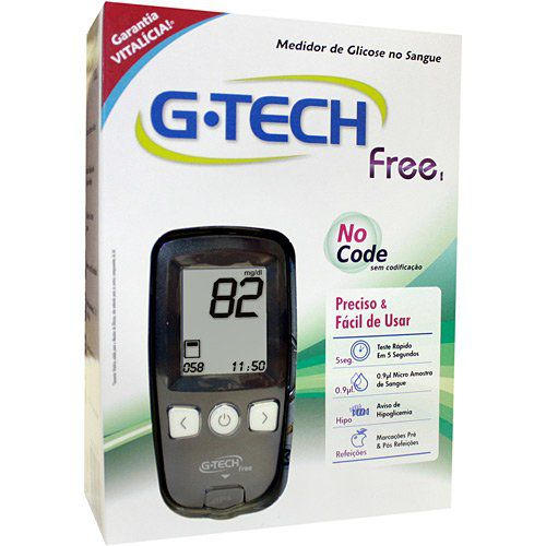 Medidor de Glicose G-Tech Free 1