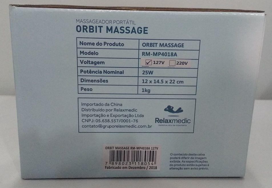 Massageador Orbit Massage 127v Relaxmedic