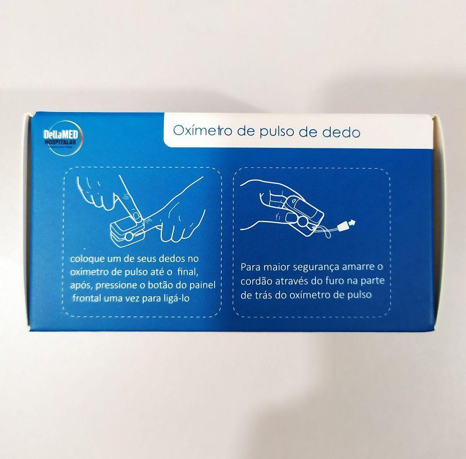 Oxímetro portátil de dedo com alarme MD300CF3 DellaMed